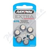 Rayovac Extra Adv. 675 baterie do naslouchadel 6ks
