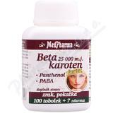 MedPharma Beta karot. 10 000 m. j. Pant. +PABA tob. 107
