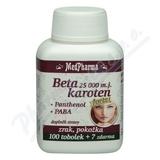 MedPharma Beta karot. 25 000 m. j. Pant. +PABA tob. 107