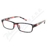 Brýle čtecí +1. 50 černo-květinové