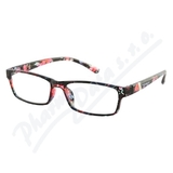 Brýle čtecí +1. 00 černo-květinové