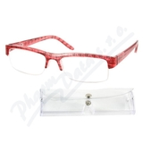 Brýle čtecí +1. 50 červeno-černé s pouzdrem