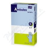 Ambulex Nitryl rukavice nitril. nepudrované S 100ks