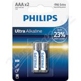 Baterie Ultra Alkaline AAA PHILIPS LR03E2B-10 2ks