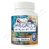 Omegáčci ryb. olej pro děti EPA130mg-DHA80mg cps. 60