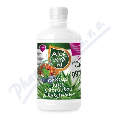 Aloe vera gel s borůvkou a rakytníkem 500ml